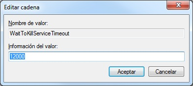regedit, WaitToKillServiceTimeout