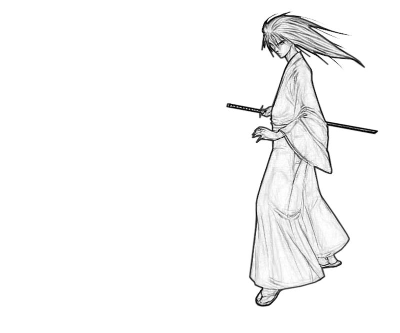 coloring pages for rurouni kenshin - photo#34