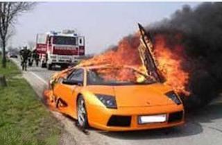 Funny picture: Fire lamborghini