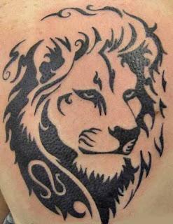 Lion Tribal Tattoos Designs