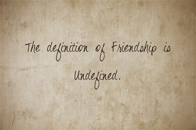 What is the definition of friendship?