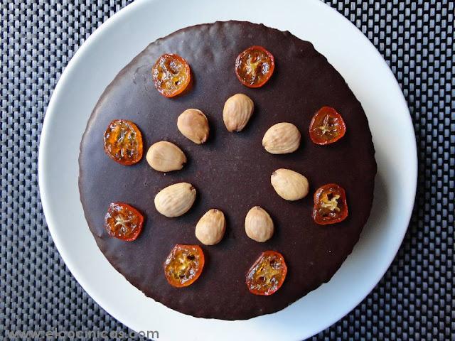 Tarta de mascarpone, nata y kumquat