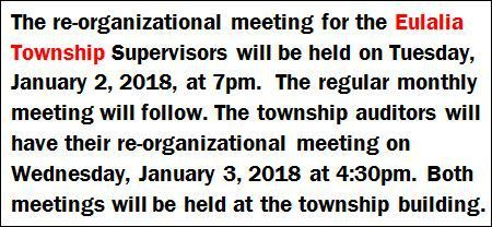 1-2/3 Eulalia Township Meetings Notice
