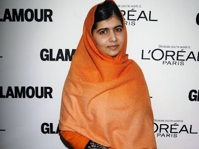 Malala as a glamour women of the year