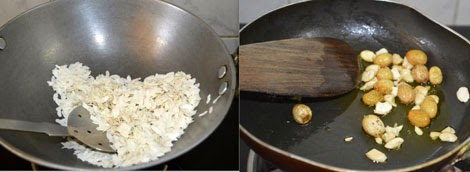 poha laddu preparation