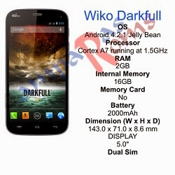 Wiko Darkfull specs and stock rom download