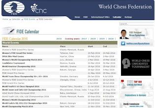 EVENT RESMI INTERNASIONAL/FIDE TAHUN 2016