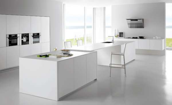 Decora y disena 7 fotos de cocinas color blanco varios - Cocina blanca moderna ...
