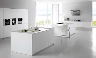 cocina linda blanca
