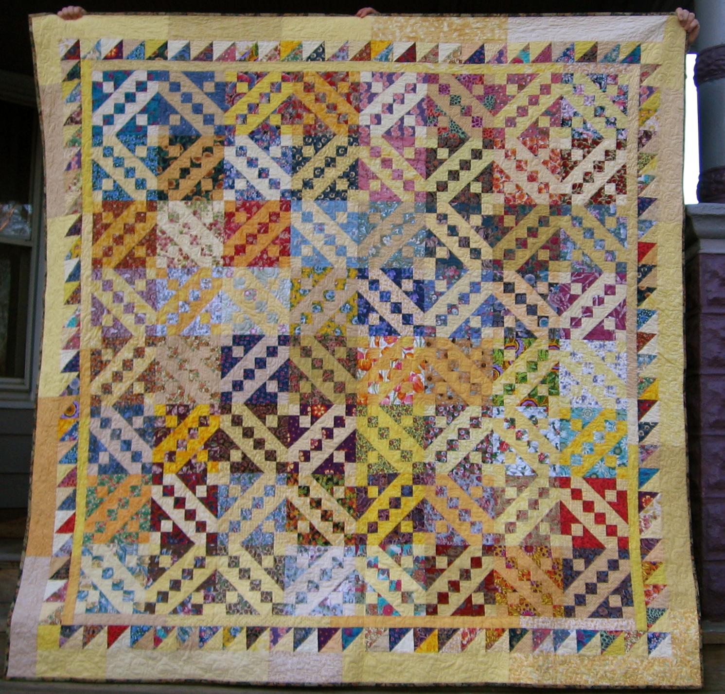klein meisje quilts: a quilt!! Jacob's Ladder : jacobs ladder quilt - Adamdwight.com