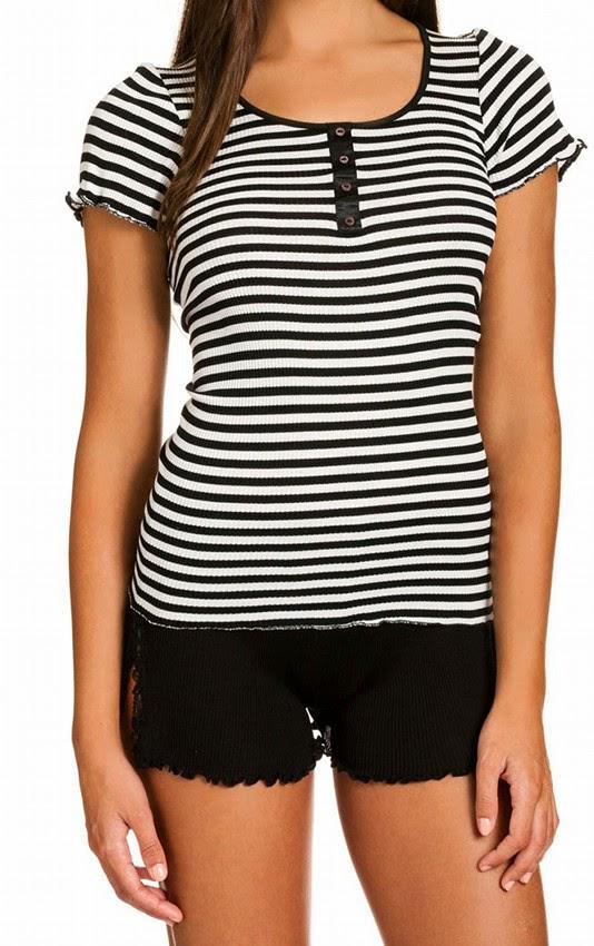Seide-Baumwolle T-Shirt Arona schwarz-weiß von Gattina