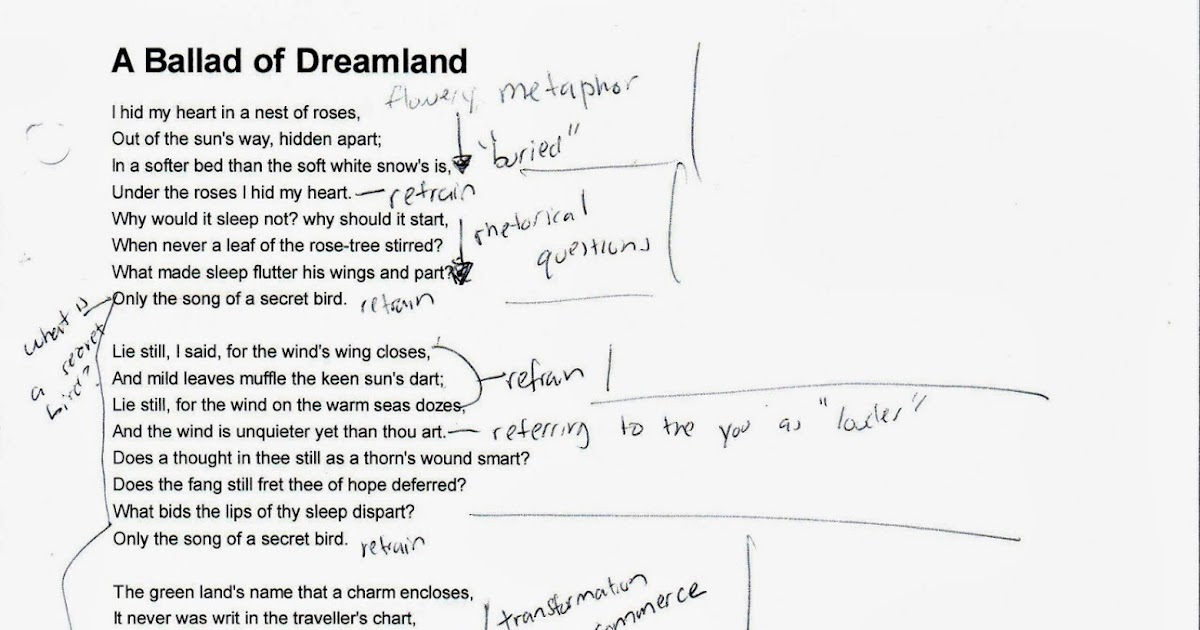 analysis of dreamland Read this english essay and over 88,000 other research documents analysis of dream deferred by langston hughes dream deferred a dream is a goal in life, not just dreams experienced during sleep.
