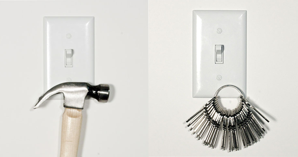 Magnetic light switch covers cool sh t you can buy for House key cover with light