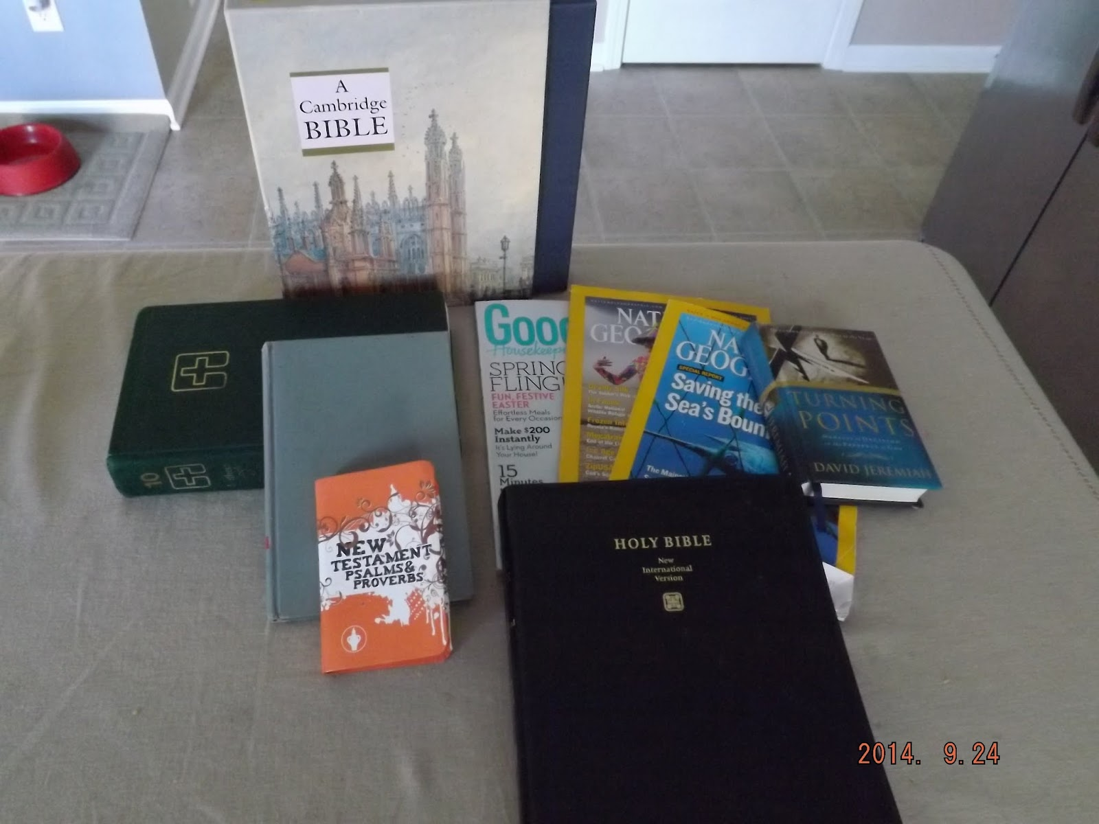 Journaling Bible supplies that I found at the thrift store for less than $5.