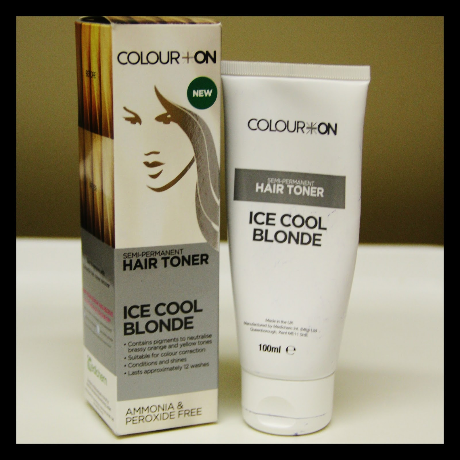 MichelaIsMyName COLOUR ON Ice Cool Blonde Semi Permanent Hair Toner