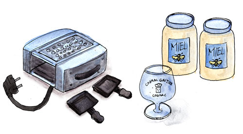 raclette machine by Yukié Matsushita