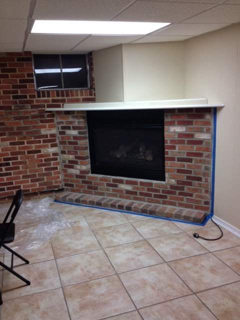 Coles In The Kitchen Painted Brick Fireplace