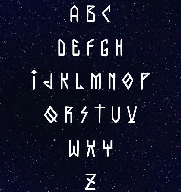 Galaktika free font