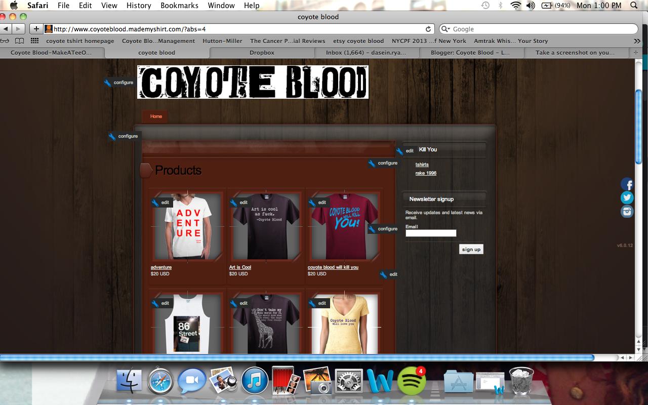Coyote Blood T-Shirts