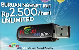 Cara Daftar Kartu Flexi Paket Internet Unlimited