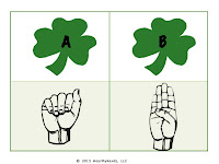 Shamrock and ASL letters