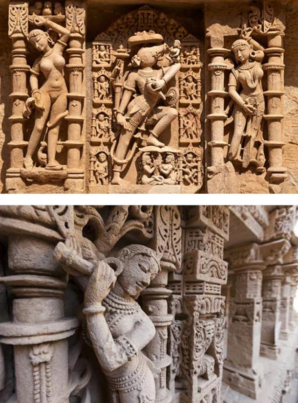 The magnificent sculptures of the Rani-Ki-Vav remained well preserved over centuries after being buried under silt. Source: BigStockPhoto