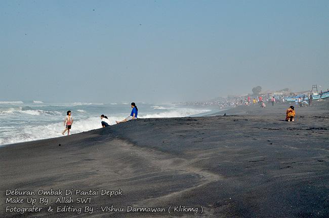 Deburan Ombak Di Pantai Depok || Fotografer & Editing By : Vishnu Darmawan ( Klikmg ) Fotografer Purwokerto, Fotografer Jakarta, Fotografer Indonesia, Fotografer Banyumas, Fotografer Jawa Tengah