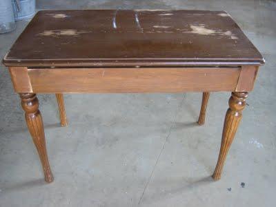 Decoro sin decoro pintar una mesa en zigzag - Pintar una mesa de madera ...