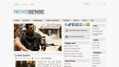 NewsSense - Free Blogger Template