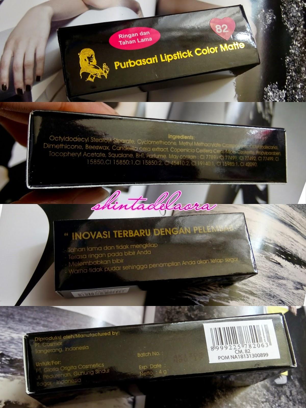 Shinta Laura Dewanis Room Superlate Review Purbasari Lipstick Lipstik Collor Matte Click To Enlarge