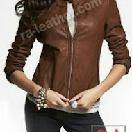 Jaket kulit asli wanita