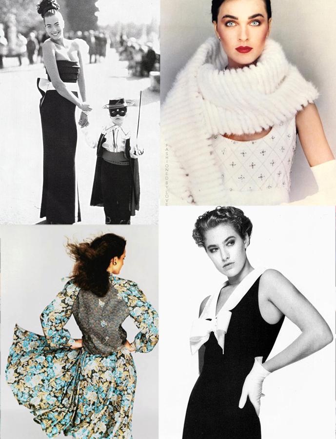 Mila Schon designs in Vogue Italia and fashion campaigns 1982-1988 via www.fashionedbylove.co.uk