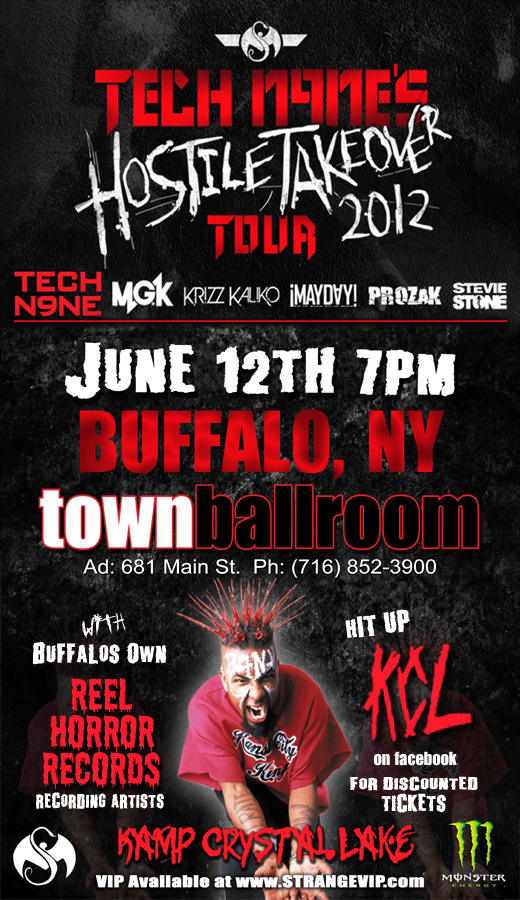 Tech N9ne: Hostile Takeover in Buffalo, NY 6-12-12