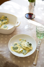 Recipes from Italy: Spinach and Ricotta Ravioli with Butter and Sage