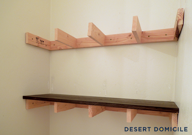 tips on putting up wood shelf brackets | doityourself.com, Wood shelf ...