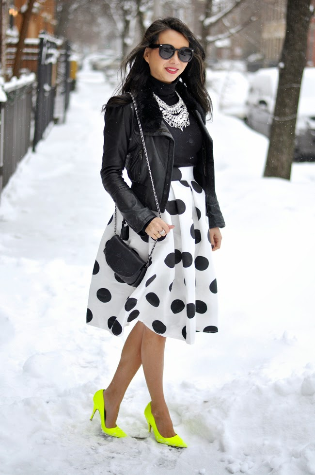 t+j Designs Polka Dot Midi Skirt