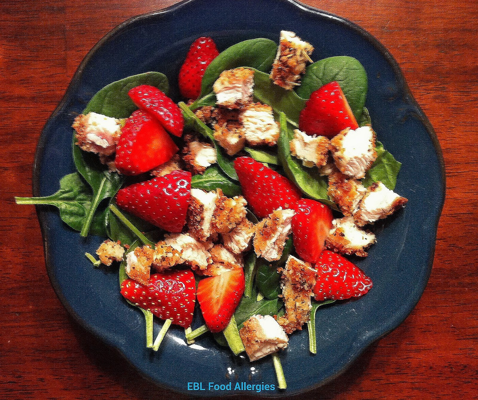 EBL Food Allergies: Strawberry Spinach Salad with Chicken - Top8-Free Gluten-Free