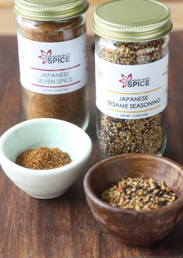 Japanese Seven Spice (Shichimi Togarashi) & Japanese Sesame Seasoning available at SeasonWithSpice.com