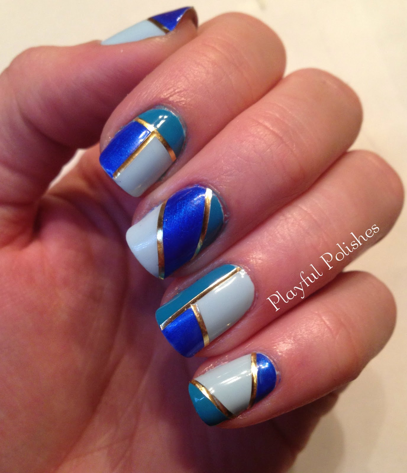 Nail Designs With Striping Tape: Playful Polishes: STRIPING TAPE