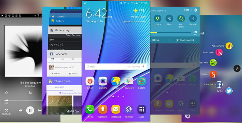 Samsung Galaxy Note 5 UI