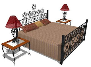 Trimble 3D Warehouse - Wrought Iron Bed Set