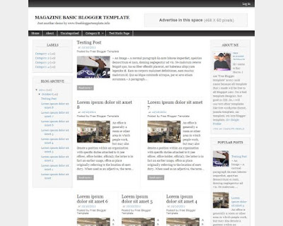 Magazine Basic Blogger Template