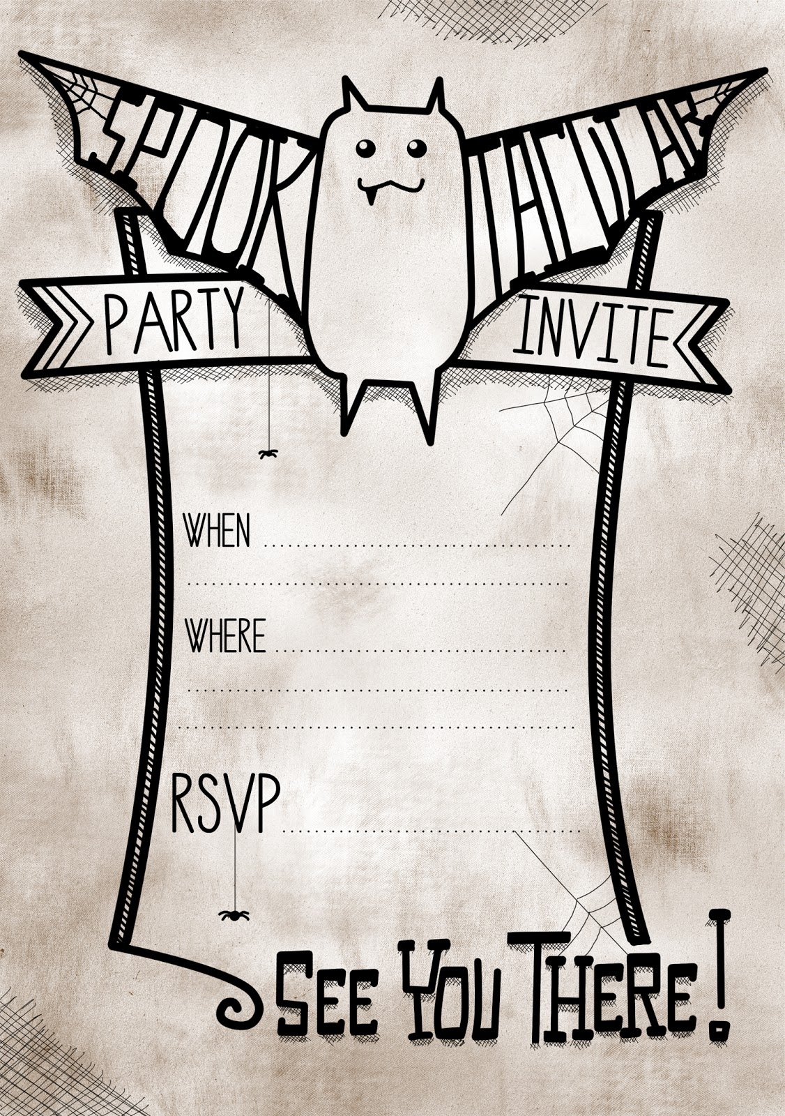 free printable spooktacular party invites for halloween, party invitations
