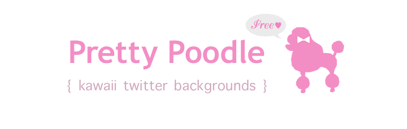 Pretty Poodle { kawaii twitter backgrounds }
