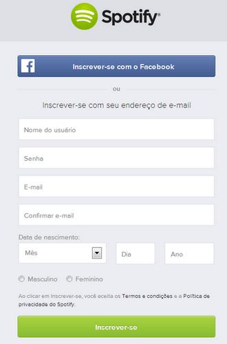spotify chegou brasil 2014