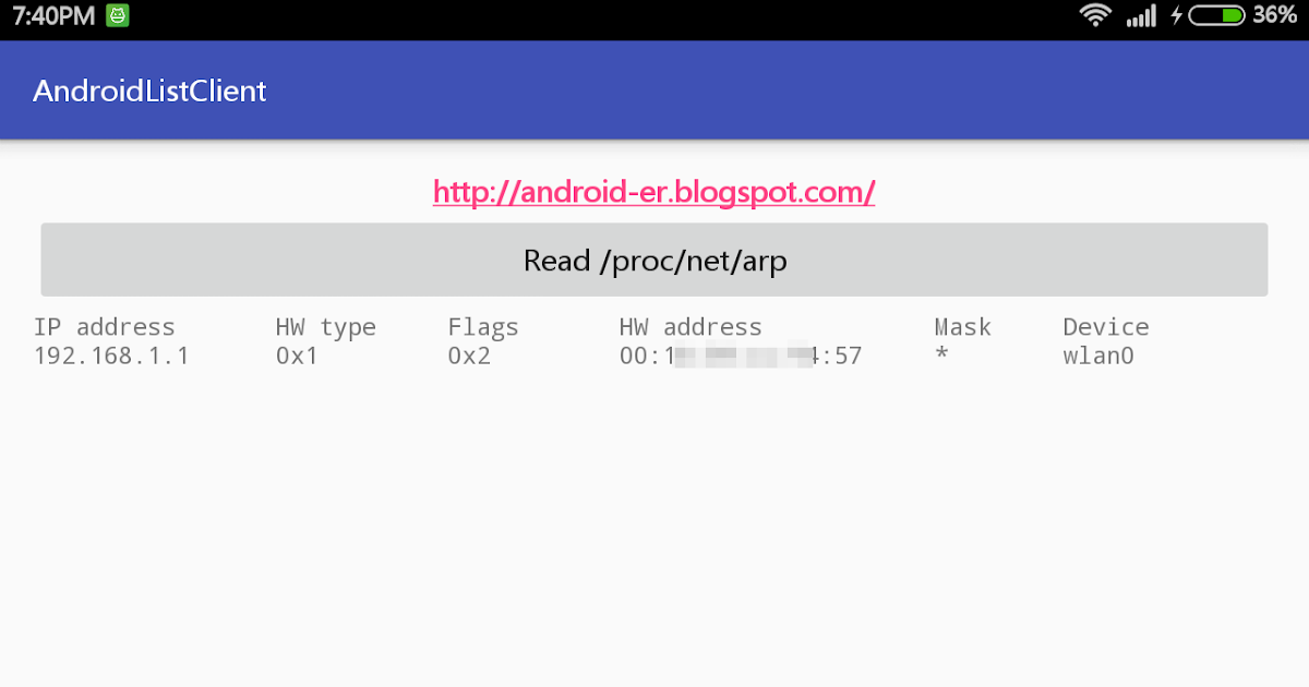 "Android-er: Display WiFi Hotspot clients by ""cat /proc/net ..."