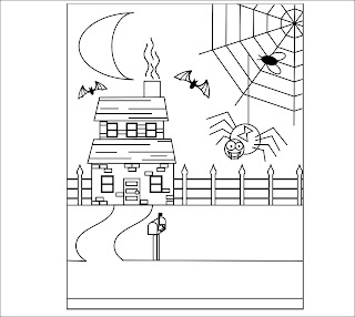 Haunted House Coloring Pages Free