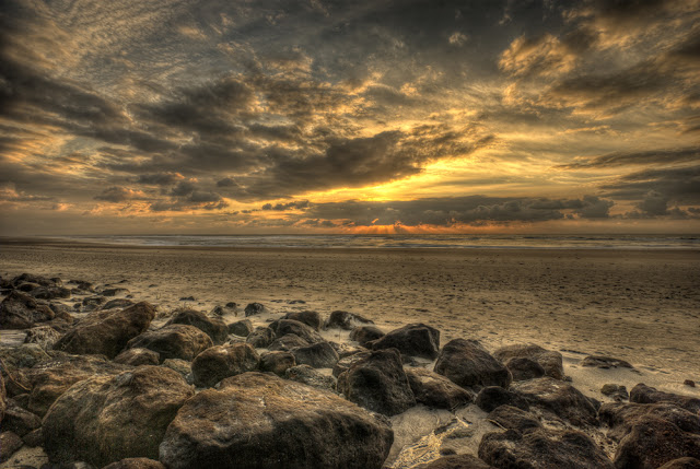 photo plage hdr, photo plage medoc, photo plage gironde, photo plage montalivet, photo plage coucher de soleil, photo hdr fabien monteil