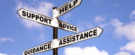 support, help, advice, assistance, guidance sign