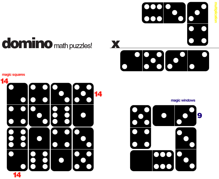 E is for Explore!: Domino Math Puzzles